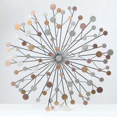28 in. Dia Metal Starburst Abstract Wall Decor
