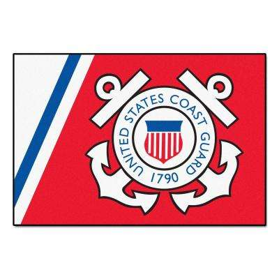 Military Red 2 ft. x 3 ft. Rectangle Coast Guard Area Rug