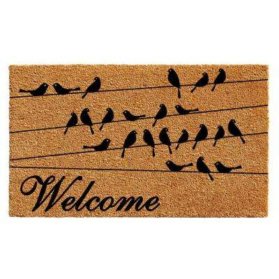 Black Bird Welcome Door Mat 17 in. x 29 in.
