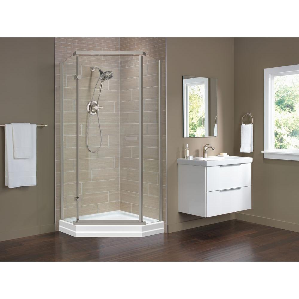 Delta 35 7 8 In X 35 7 8 In X 71 7 8 In Semi Frameless Neo Angle Shower Enclosure 422061