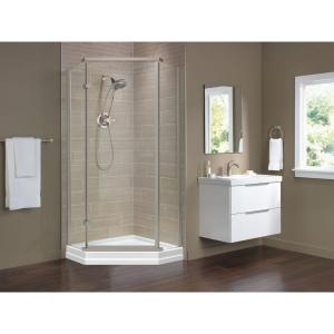 Delta 35-7/8 inch x 35-7/8 inch x 71-7/8 inch Semi-Frameless Neo-Angle Shower Enclosure by Delta