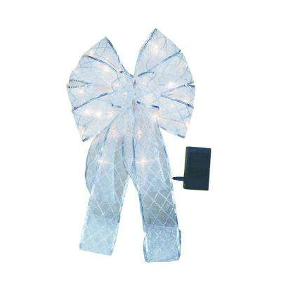 9 in. Silver Ribbon Bow