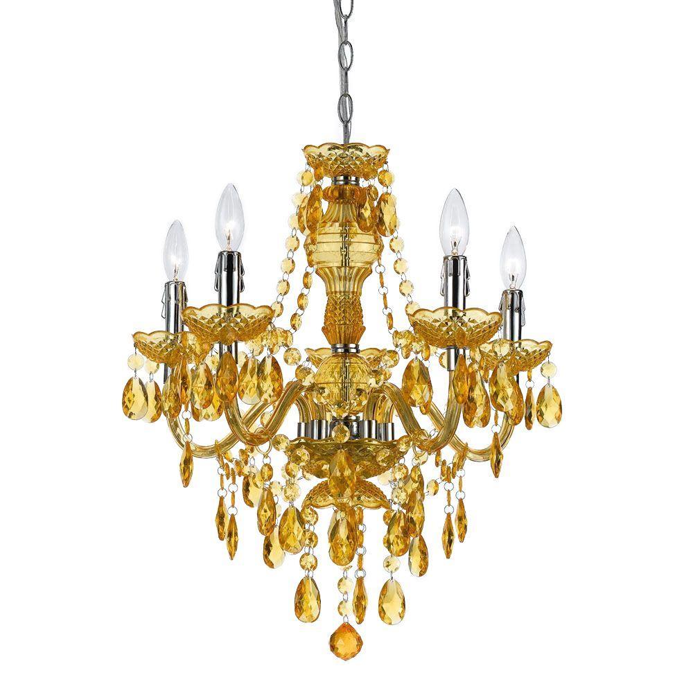 Fulton 5-Light Gold Chandelier