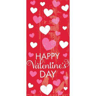 11.5 in. x 5 in. x 3.25 in. Happy Valentine's Day Large Cello Bag (20-Count 5-Pack)