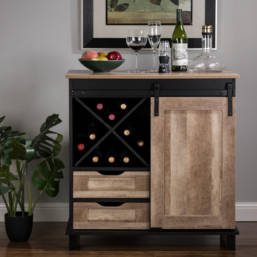 Modern Black Wine Cabinet