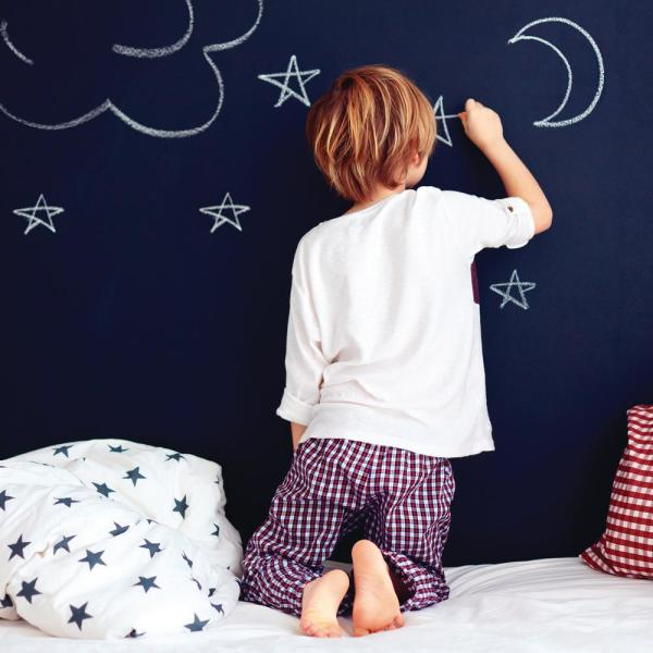 Chalkboard Black Vinyl Peelable Wallpaper (Covers 28 sq. ft.)