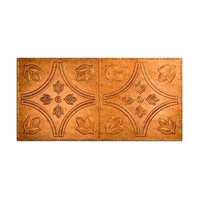 Traditional 5 - 2 ft. x 4 ft. Glue-up Ceiling Tile in Muted Gold