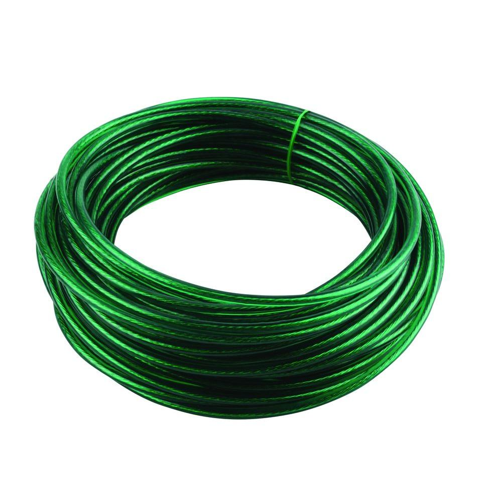 Crown Bolt 5/32 in. x 50 ft. Green Vinyl Coated Wire Clothesline ...