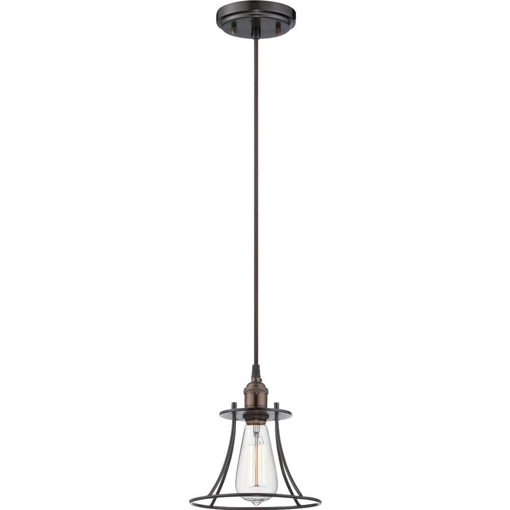 Glomar 1-Light Rustic Bronze Incandescent Ceiling Pendant