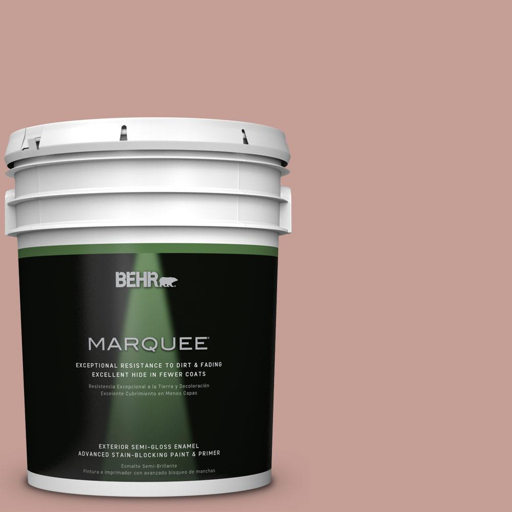 BEHR MARQUEE 5-gal. #S170-4 Retro Pink Semi-Gloss Enamel Exterior Paint