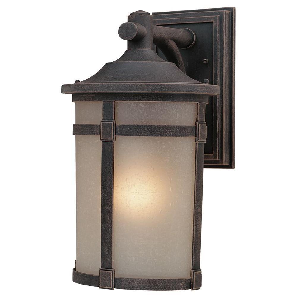 ARTCRAFT Beyer 1-Light Rich Bronze Outdoor Wall Lantern Sconce