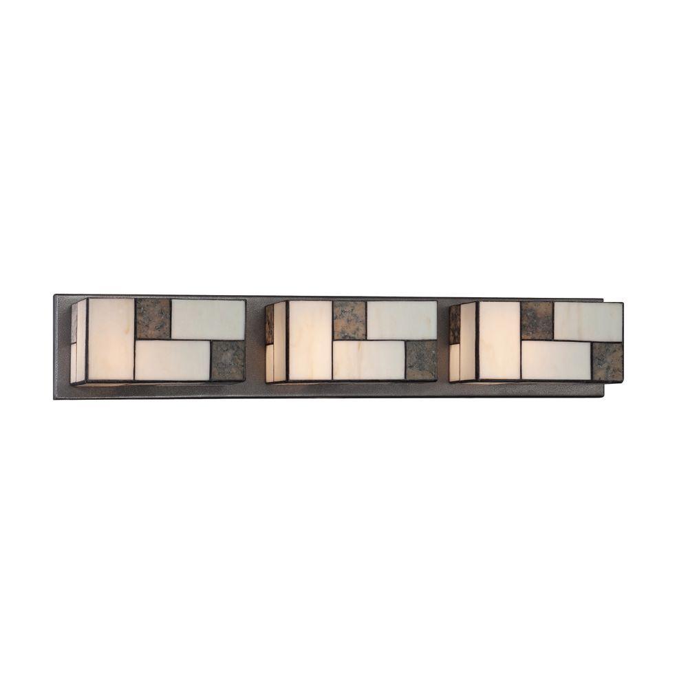 Bradley 3-Light Charcoal Interior Incandescent Bath Vanity Light