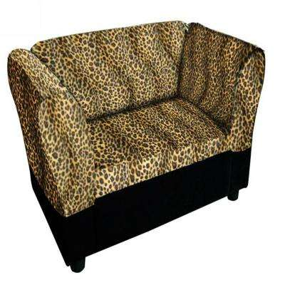 16.75 in. H Leopard Sofa Bed with Storage Pet Furniture Bed