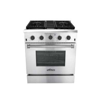 30 in. 4.2 cu. ft. Gas Range in Stainless Steel