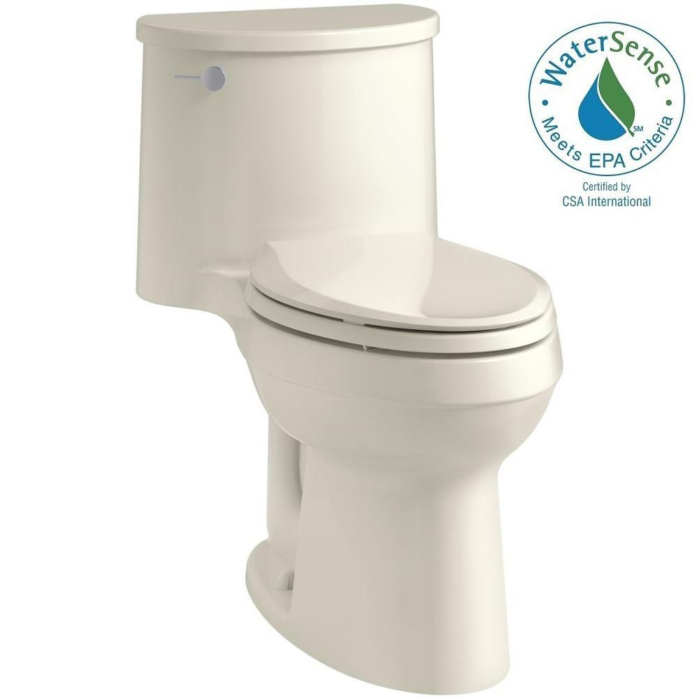 Adair Comfort Height 1-piece 1.28 GPF Single Flush Elongated Toilet with