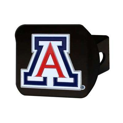 NCAA University of Arizona Color Emblem on Black Hitch Cover