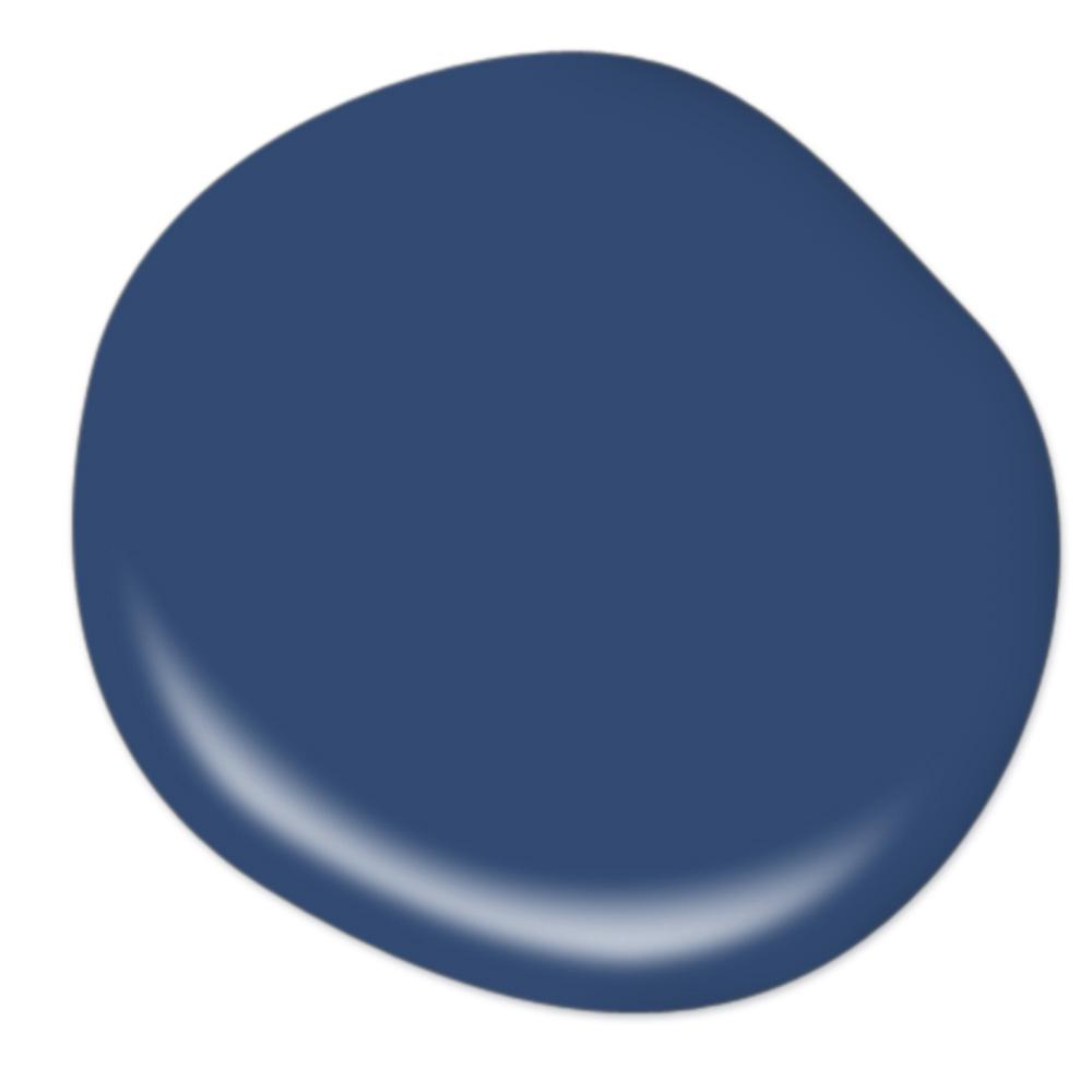 A beautiful navy blue paint for coastl interiors. BEHR Premium Plus Ultra 8 oz. #S-H-580 Navy Blue Matte Interior/Exterior Paint and Primer in One Sample