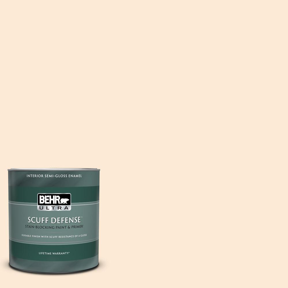 Behr Ultra 1 Qt 260f 7 Caramel Latte Extra Durable Semi Gloss Enamel Interior Paint And Primer In One 375304 The Home Depot