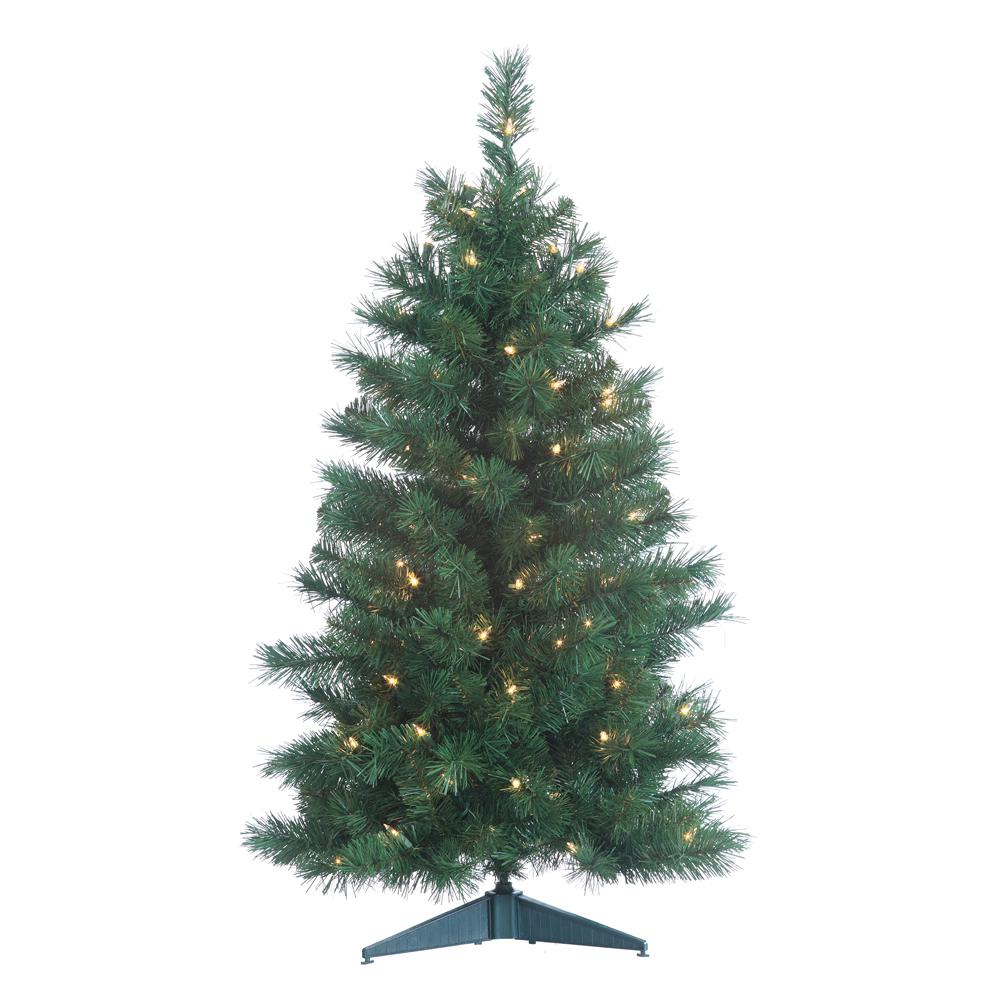 3 Foot Prelit Christmas Trees.Sterling 3 Ft Pre Lit Colorado Spruce Artificial Christmas Tree With 100 Clear Lights And 21 In Base