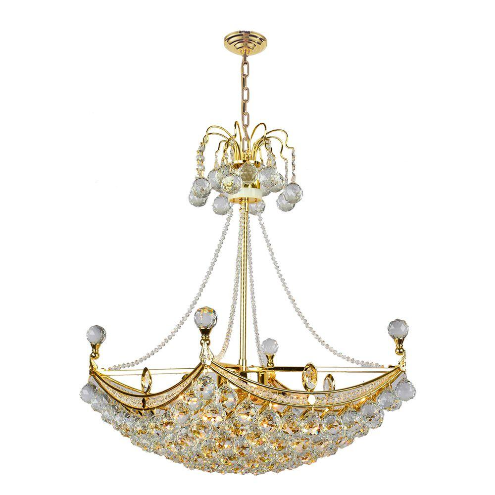 Worldwide lighting empire collection 6 light polished gold crystal worldwide lighting empire collection 6 light polished gold crystal chandelier aloadofball Image collections