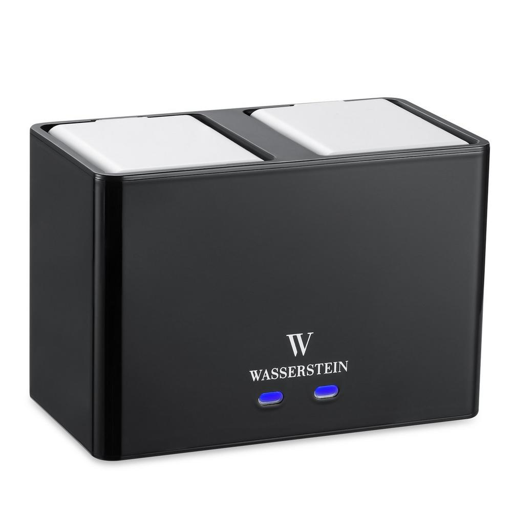 Wasserstein Charging Station for Arlo Pro and Arlo Go Rechargeable  Batteries Charging Station in Black