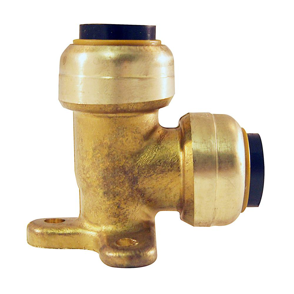1/2 in. Brass Push-to-Connect Drop Ear Elbow