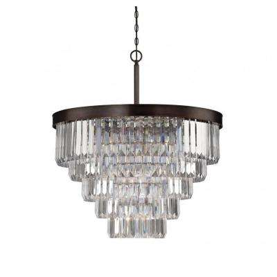 Bradoon 9-Light Burnished Bronze Chandelier