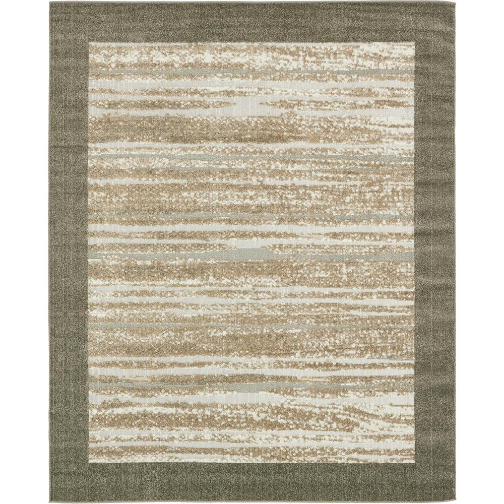 Uniquely Modern Rugs: Unique Loom Outdoor Modern Brown 8' X 10' Rug-3132583