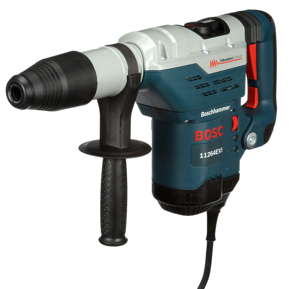 Bosch 13 Amp Corded 1-5/8 in. SDS-max Variable Speed Rotary Hammer Drill with Auxilliary Side Handle and Carrying Case