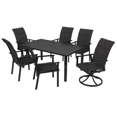 High Garden Padded Sling Metal Outdoor Dining Chairs (6-Pack)