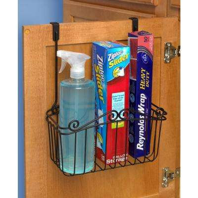 Scroll 14 in. x 10.5 in. x 6.25 in. Steel Over the Cabinet Large Basket in Black