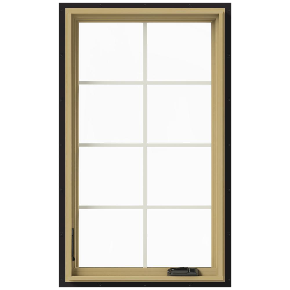 28 in. x 48 in. W-2500 Left Hand Casement Aluminum Clad Wood Window