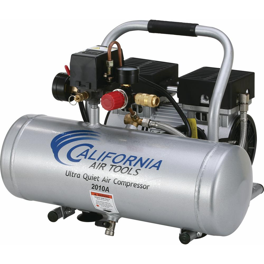 California Air Tools 2.0 Gal. 1.0 HP Ultra Quiet and Oil-Free Aluminum Tank Air Compressor