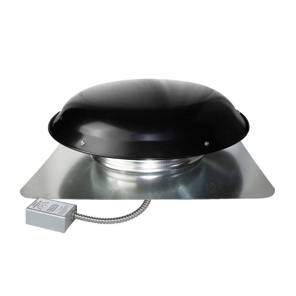 Home Garden Cool Attic 1080 Cfm Weathered Grey Galvanized Steel Power Attic Roof Ventilator Exhaust Fans Ventilators