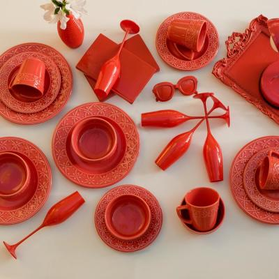 Coral Dinnerware Sets Dinnerware The Home Depot