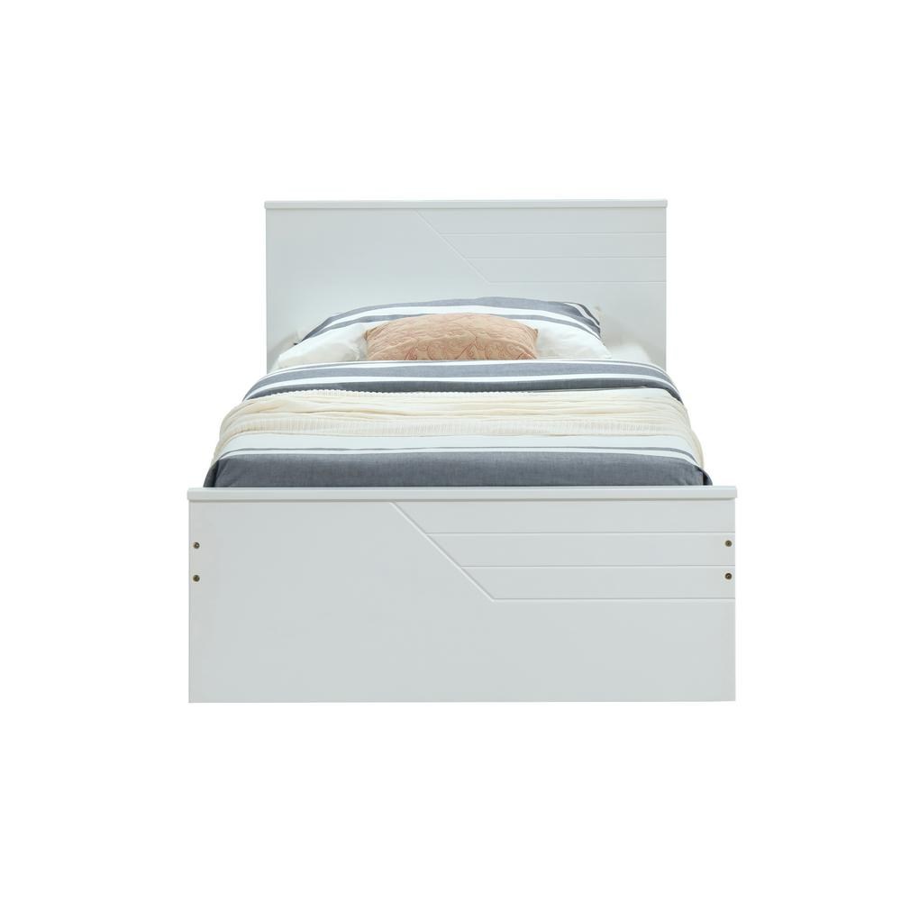 Acme Furniture Ragna White Twin Bed Acme Furniture Ragna White Twin Bed.