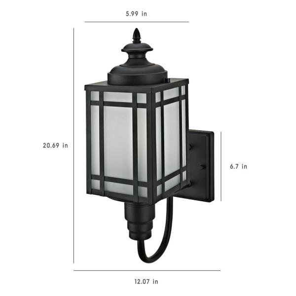 Light Mission Style Outdoor Wall Sconce