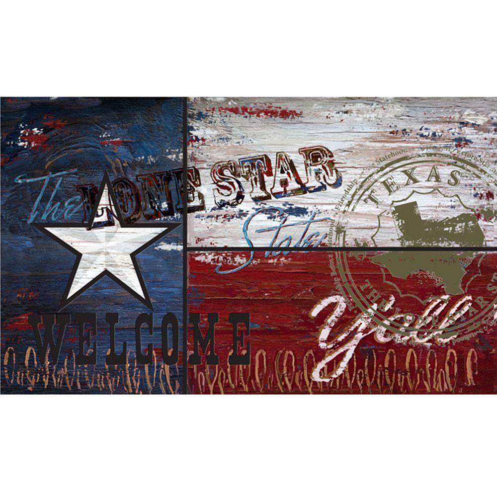 Texas Flag 18 in. x 30 in. Recycled Rubber Door Mat