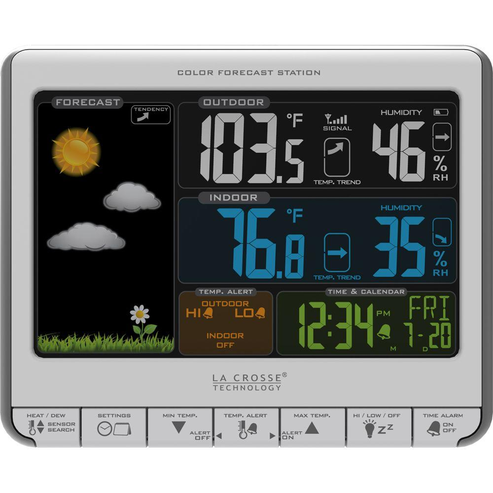 Color LCD Wireless Weather Station with USB Charging Port