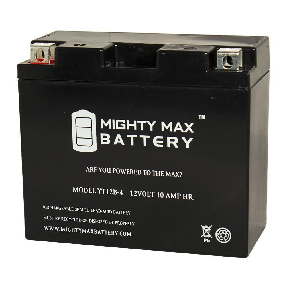 MIGHTY MAX BATTERY 12-Volt 10 AH 210 CCA Rechargeable Sealed Lead Acid (SLA) Powersport Battery