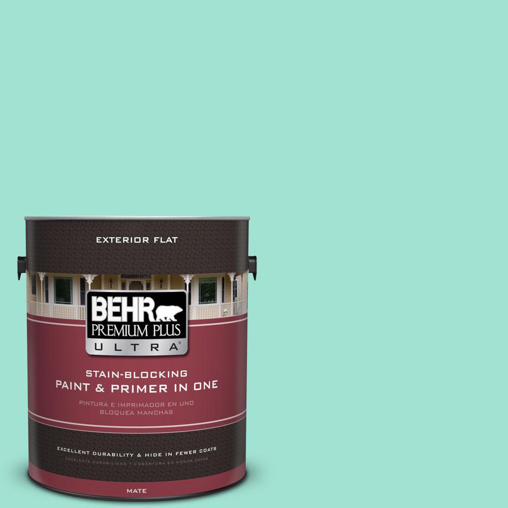 BEHR Premium Plus Ultra 1-gal. #P430-2 Aqua Wish Flat Exterior Paint