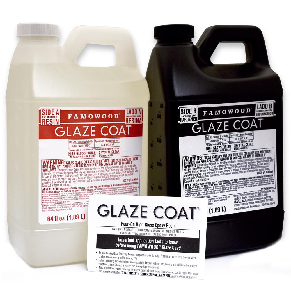 famowood 1 gal glaze coat clear epoxy kit 5050110 the home depot