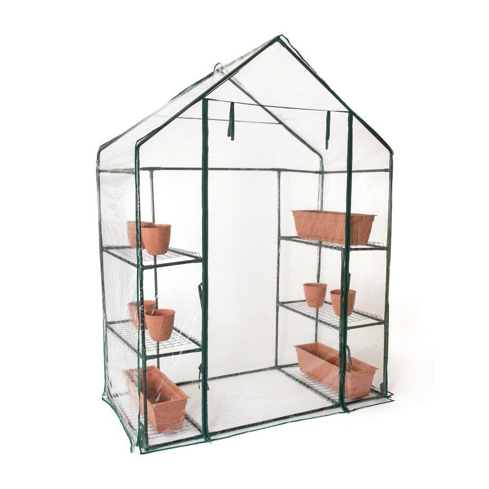 6-Shelf 3-Tier  6.4 ft. Tall Walk in Greenhouse
