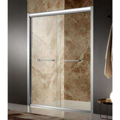 Pharaoh 48 in. x 72 in. Framed Sliding Shower Door in Polished Chrome with Handle