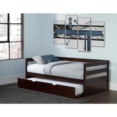 Caspian Chocolate Twin Daybed with Trundle
