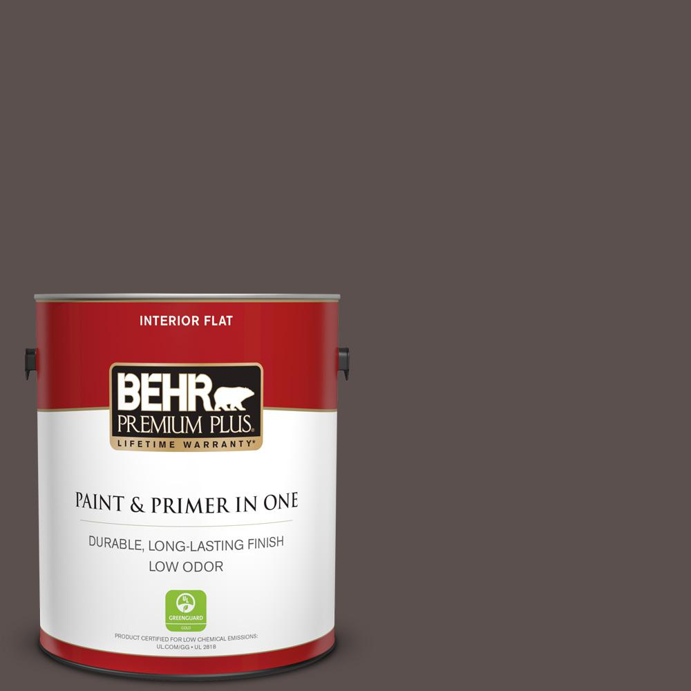 Reviews For Behr Premium Plus 1 Gal Ecc 12 3 Shadow Wood Flat Low Odor Interior Paint And Primer In One 130001 The Home Depot