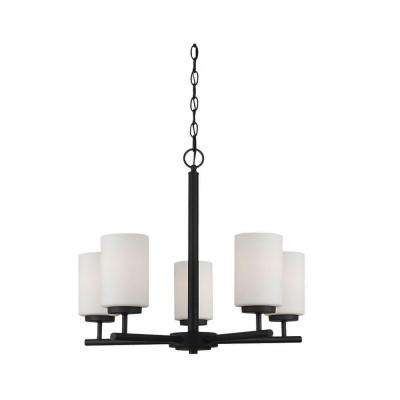 Oslo 5-Light Blacksmith 1-Tier Chandelier