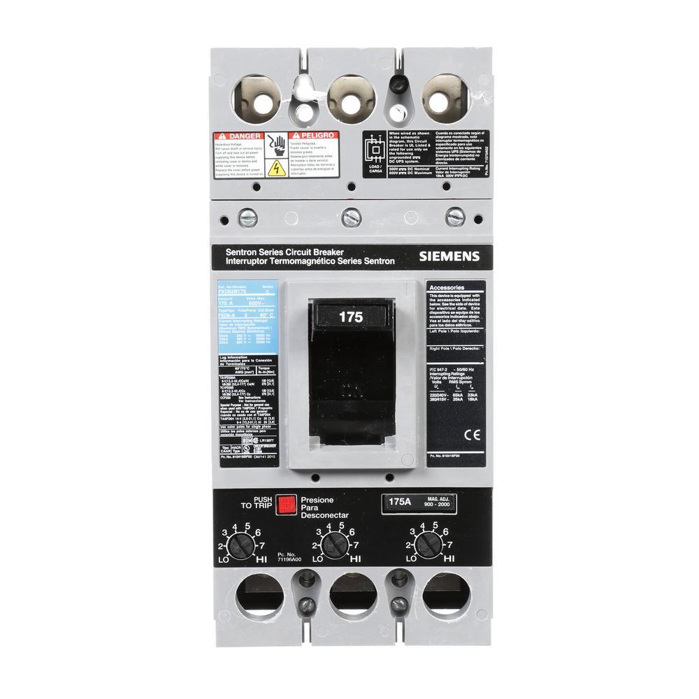 Siemens 175 Amp Type FXD6-A Triple-Pole Circuit Breaker by Siemens