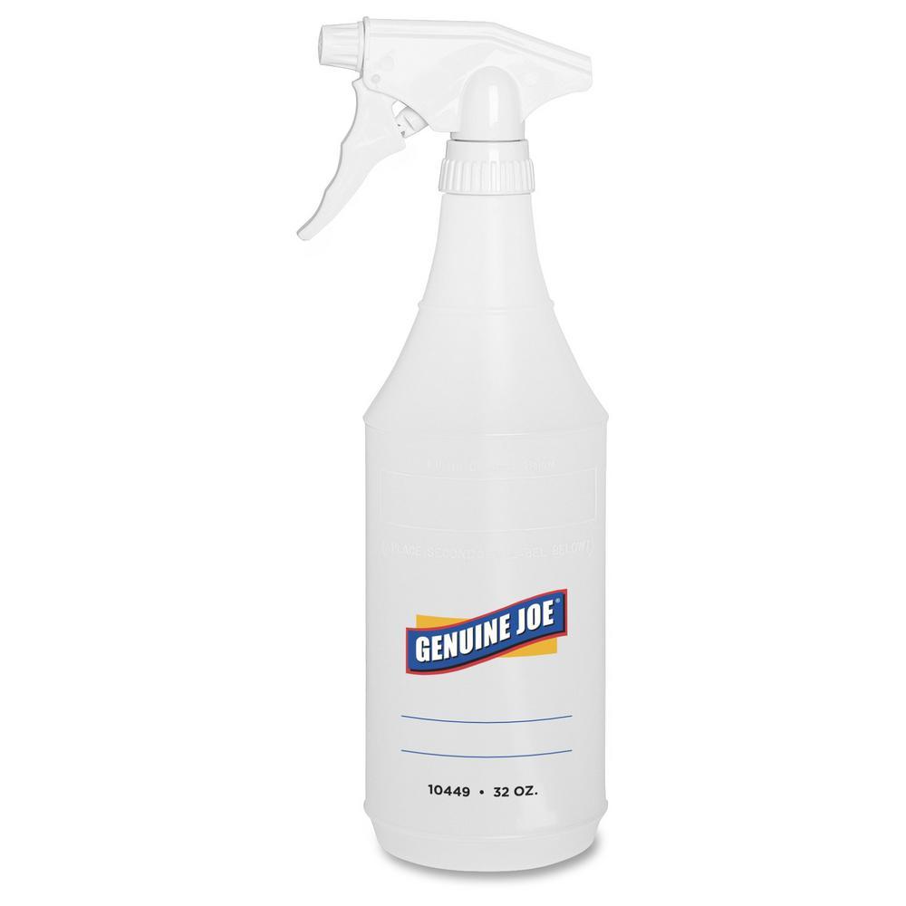 Translucent Plastic 1 Each Genuine Joe Plastic Cleaning Bottle