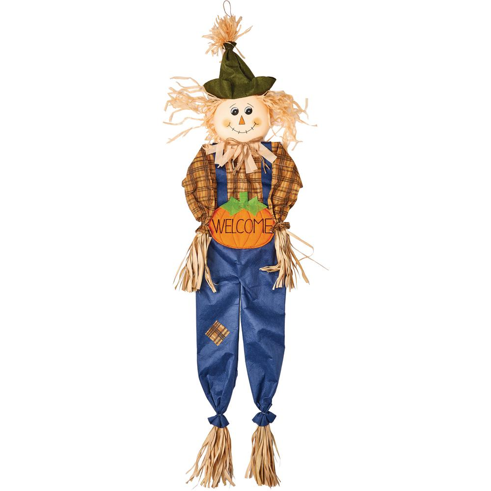 60 in hanging scarecrow pumpkin sign 2247pu the home depot
